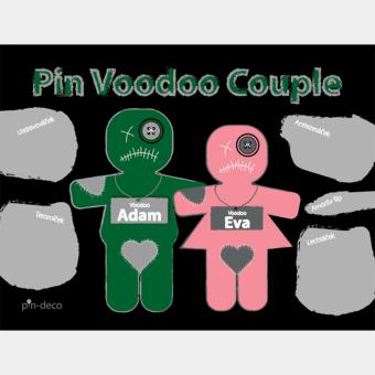 zeleno růžový voodoo panáčci