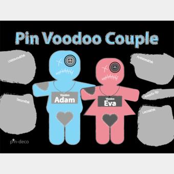 modro růžový voodoo panáčci