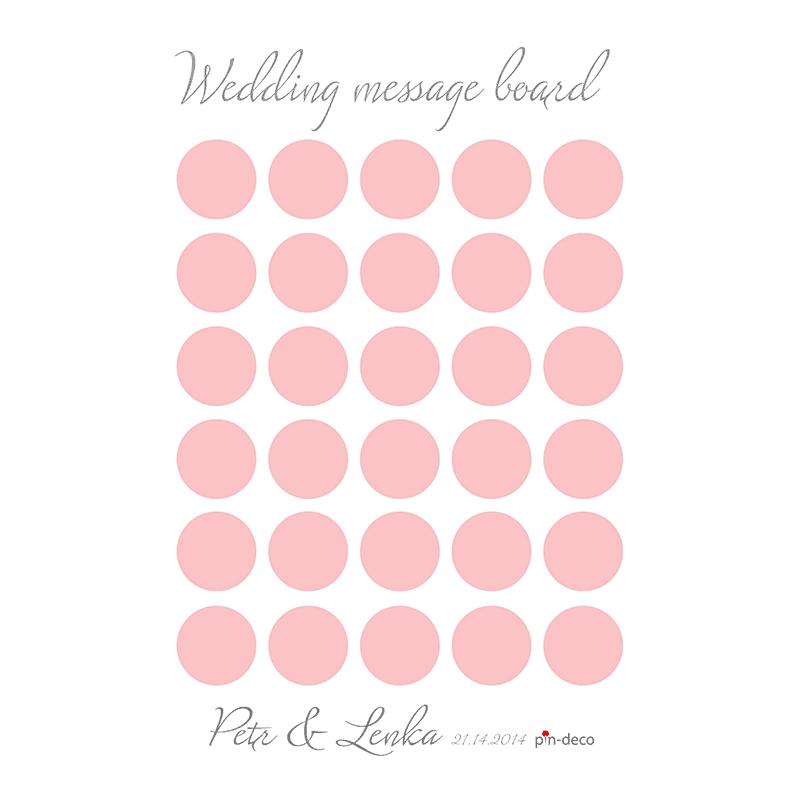 bílo světle červený svatební vzkazník