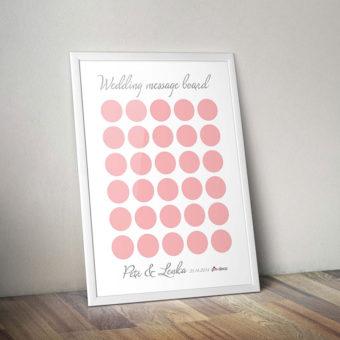 bílo světle červený svatební vzkazník 2