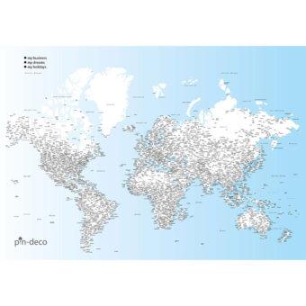 modro bílá vybarvovací mapa světa