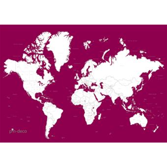 fialovo bílá vybarvovací mapa světa