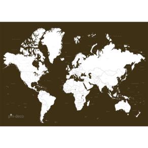 tmavě oranžová vybarvovací mapa světa