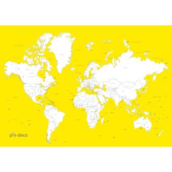 žluto bílá vybarvovací mapa světa