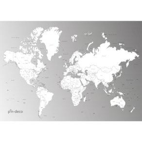 šedo bílá vybarvovací mapa světa