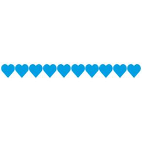 Barevná srdíčka modrá
